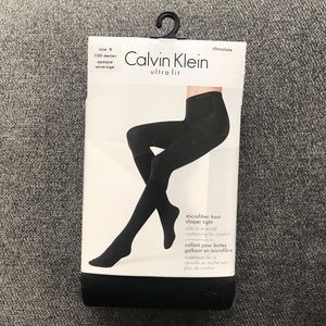 ❤️3 for $30❤️ Calvin Klein chocolate brown tights